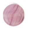 Glass Pressed Beads 8mm Flat Round Dark Violet Matt
